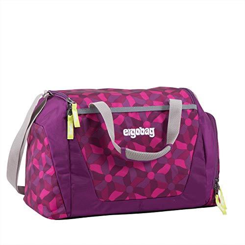 ERGOBAG ergobag Duffle Bag Bolsa de Deporte Infantil, 40 cm, 20 Liters, Morado (Flower Wheel Purple)