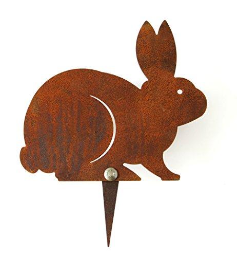 Cornali Decorazione da Prato e Giardino Bunny sagoma Coniglio - Acciaio Cor-Ten (RUGGINE). Prodotto artigianalmente in Italia.