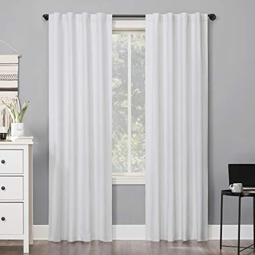 "Sun Zero 56684 Cyrus Thermal 100% Blackout Back Tab Curtain Panel, 40"" x 63"", White"