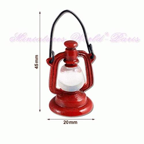 Miniatures World - Lantaarn van metaal en hars voor miniatuurdecors en poppenhuizen in schaal 1:12