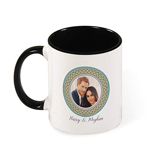 Green Harry and Meghan Royal Wedding Decorative Plate Ceramic Coffee Mug Tea Mug,Gift for Women, Girls, Wife, Mom, Grandma,11 oz