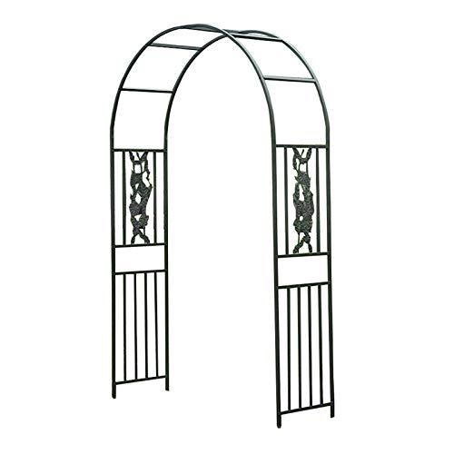 SYLJ Arco para Rosas, Arco para Enredaderas, Medidas 150x249cm,180x265cm,cenador Planta Rosa Escalada Arco,Fácil de Montar