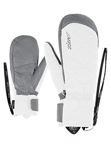 Ziener Damen KRISTY AS(R) AW MITTEN lady glove Ski-handschuhe/Wintersport, Wasserdicht, Atmungsaktiv, White, 7