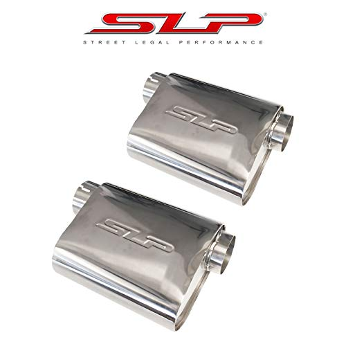 SLP PowerFlo Performance Exhaust 3' Inlet and Outlet Universal Mufflers Set of 2