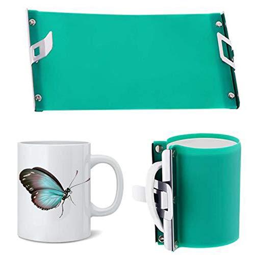 Hitzepresse Silikon-Tassenklemme, Tassenmanschette Mit Schnellverschluss Für Sublimation/Silikon Mug Wrap 11oz