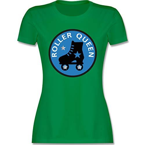 Vintage - Roller Queen Rollschuh - XL - Grün - Shirt mit rollschuh - L191 - Tailliertes Tshirt für Damen und Frauen T-Shirt