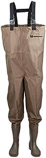 Hodgman MACKCBC11 Mackenzie Nylon and PVC Cleated Bootfoot Chest Fishing Waders, Size 11, Brown
