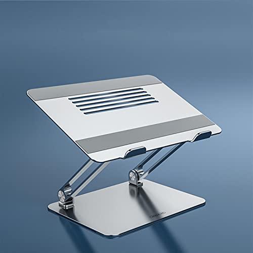 PPCAK Soporte portátil aleación de Aluminio Ajustable portátil Soporte multiangular Soporte de Calor línea Plegable portátil portátil Soporte portátil (Color : Sliver)