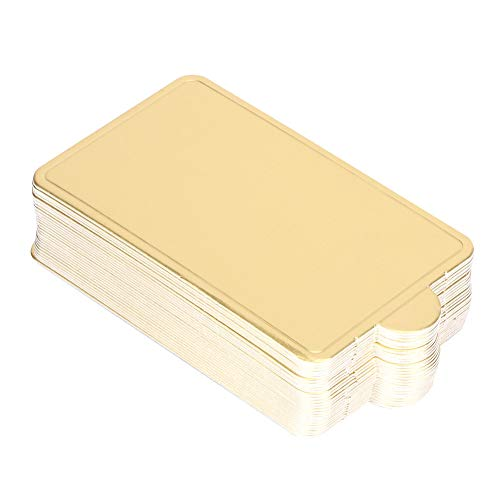 Changor Tablero de Pastel Adecuado, tableros de Torta Redonda de Oro 100x60mm Mini Tablero de Pastel de Oro con Papel de Oro de Grado alimenticio