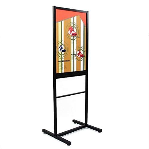 HEMFV Soporte de cartel pesado Sostenedor de la muestra de aluminio Vestíbulo señal de Snap-bastidor abierto signo del sostenedor del soporte con las dos Vista vertical de exhibición de la tienda, Exp