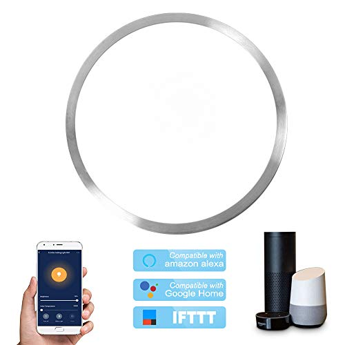 OWSOO Lámpara de Techo Inteligente WiFi Led, 48W, Control Remoto de App Cloud Intelligence, Función de Sincronización, Compatible con Amazon Alexa, Google Home, IFTTT para Control de Voz