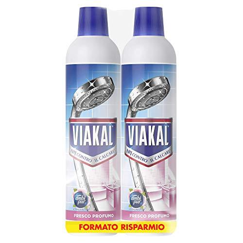Viakal Detersivo Anticalcare Liquido Fresco Profumo, Maxi Formato 2 Pezzi da 700 ml