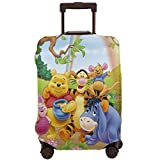 Travel Luggage Cover Anime Color Winnie The Pooh Suitcase Covers Protectors Zipper Washable Baggage Luggage Covers Fits S