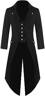 comprar comparacion waotier Cárdigans Hombre Vintage Steampunk Gótico Retro Abrigo Chaquetas de Esmoquin Sección Media y Larga Cortavientos