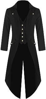 Men's Vintage Steam Punk Gothic Retro Dress Coat Fashion Long Windbreaker Jacket Plus Size