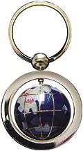 gemstone globe keychain
