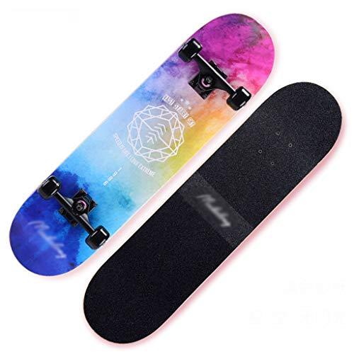 MKJYDM Roller Maple Long Board Pinsel Street Dance Board Vier Räder Doppel Skateboard Skateboard Anfänger Teen...