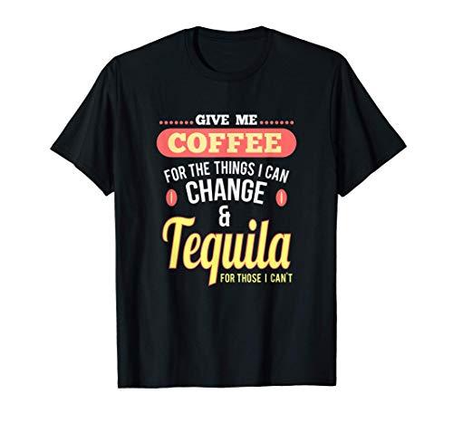 Spaß Kaffee und Tequila Shots Margarita Drinks T-Shirt