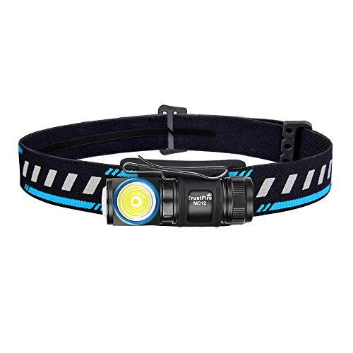 TrustFire MC12 Linterna frontal LED linterna recargable de 1000 lúmenes Batería ajustable de 180 °, personalizada - Cable de carga USB magnético - para acampar al aire libre Senderismo Correr