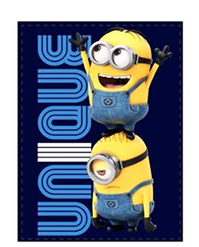 Theonoi Kinder Decke Kuscheldecke/hochwertige Mikrofaserdecke Fleecedecke/Wohndecke Nickelodeon Minions Despicable me universal – 100 x 150 cm (Minions 02)