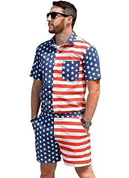 Zesties Male Romper  Large American Flag