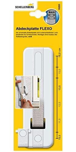 Schellenberg 10203 Copripiastra (tapparelle), modello Softline, distanza fra i fori: 13,5/16 cm, bianco