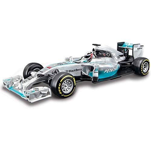 Modelo de automóvil Mercedes-Benz AMG modelo de simulación 1:32 de la aleación original F1 Fórmula coche de deportes de aleación coche modelo exclusivo de colección modelo (color: plata, Tamaño: el 14