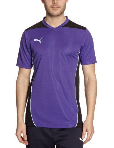 PUMA Foundation - Camiseta de fútbol Sala para Hombre, tamaño S, Color Team Morado - Negro