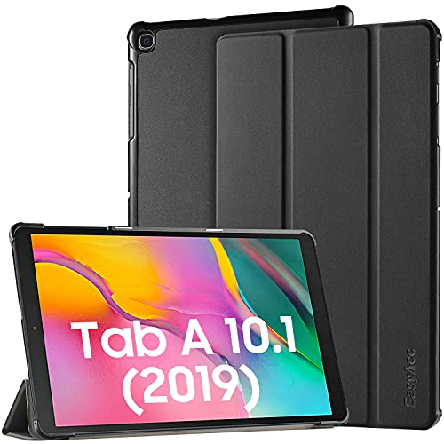 EasyAcc Case for Samsung Galaxy Tab A 10.1 2019 T510/ T515 - Ultra Thin with Stand Function Slim PU Leather Smart Case Fits Samsung Galaxy Tab A T510/ T515 10.1 Inch 2019 - Black