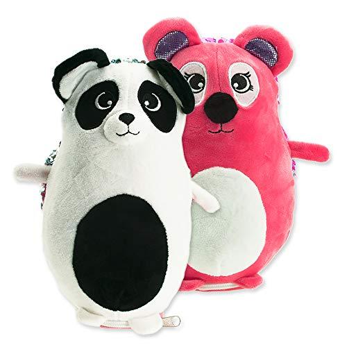 Girabrilla- MARSUPIOTTO Panda/Koala, Peluche e Astuccio, Nice Group, 25425