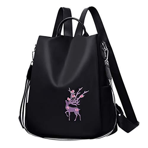 LEEDY Rucksackfunktion Tasche Mode Frauen Messenger Bag Single Sollte Taschen Handtasche Schulrucksäcke Oxford Pflaumenmuster