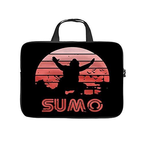 Retro Sumo Laptop Carrying Bag Neoprene Waterproof and Anti-Static Office Handbag 13 inch