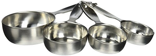 Amco Advanced Performance Measuring Cups Baking Supplies, Multisizes, Silver