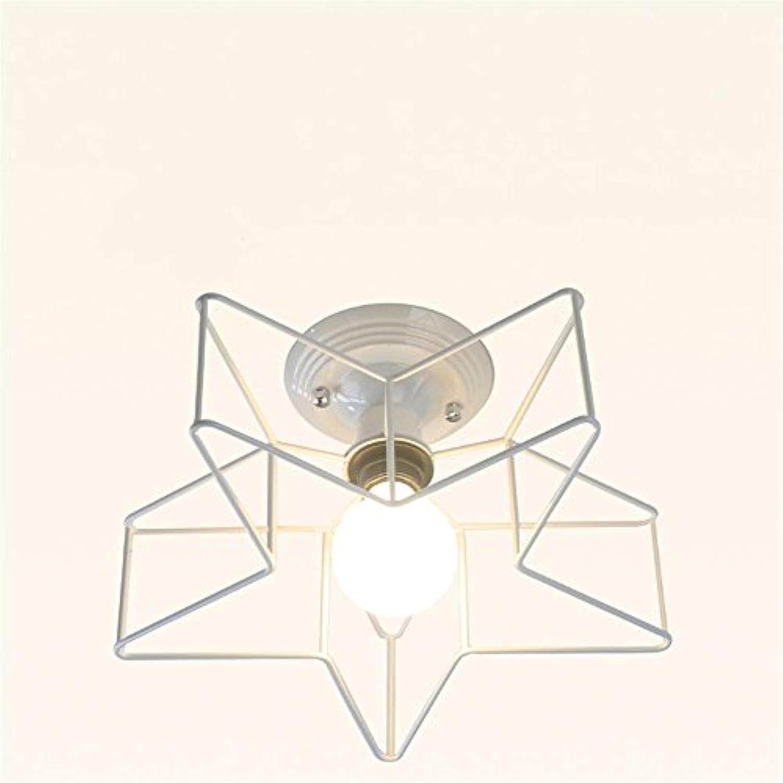 American Einfache Fünf - Spitz Star Decke Kreative Persnlichkeit Kunst Schlafzimmer Lichter Gangschlafzimmer Kinderzimmer Leuchten (Farbe   Weiß (small))