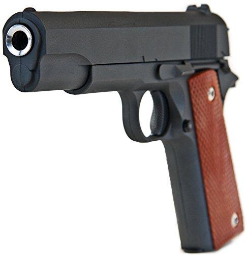 Nerd Clear Softair-Pistole G13 Vollmetall schwarz Federdruck 24 cm Spielzeug-Waffe max. 0,5 J im Set mit 6 mm BB Airsoft Munition