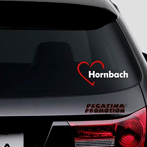 Pegatina Promotion Herzstadt Stadt Herz I Love Hornbach ca. 20cm Aufkleber,Autoaufkleber,Sticker,Decal,Wandtattoo, aus Hochleistungsfolie,UV&waschanlagenfest,