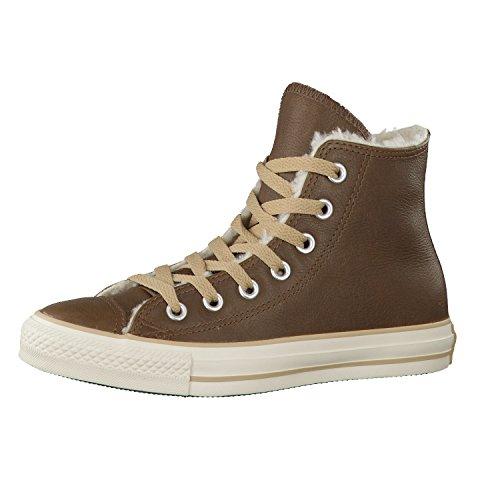 Converse Damen Schuhe All Star Hi Shearling 132127C Braun Chucks Sneakers Winterschuhe Warmfutter Dunkelbraun Größe 36