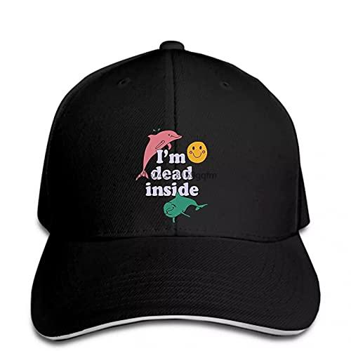 OEWFM Gorra de béisbol Dolphin Dead Inside Sunshine Snapback Hat Peaked Regalo de Gorra de Deportes al Aire Libre