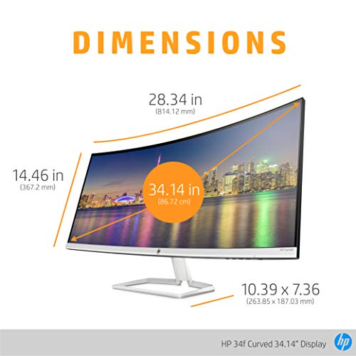"""HP 34f 34"""" Curved Monitor with AMD FreeSync Technology 