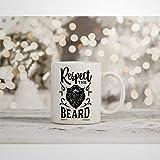N\A Tazza da caffè Tazza per la Festa del papà Rispetta la Barba Tazza Divertente novità Barba Baffi Tazza da tè in Ceramica Regalo di Compleanno di Natale per Uomo Donna