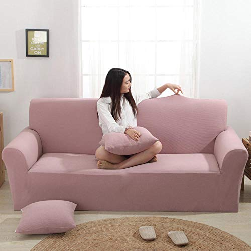 HXTSWGS Fundas Cojines de Sofa,tretch Sofa Covers, 3 Seater Couch Covers for Living Room Sofa Slipcovers Furniture Covers with Elastic Bottom-Retro Powder_190-230cm