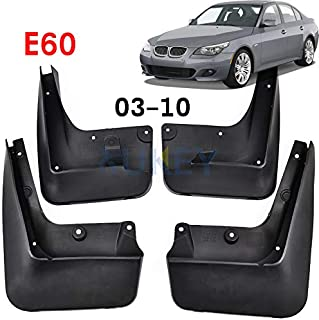 XUKEY Auto Molded Splash Guards for 04-10 BMW 5 Series E60 Mud Flaps - Front & Rear 4 Pieces Set