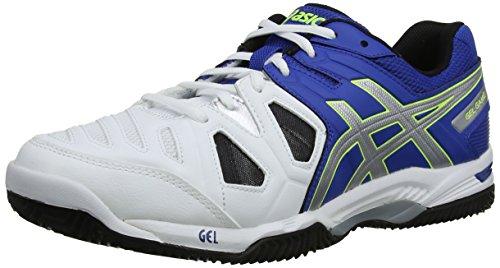 asics Gel-Game 5 Clay, Zapatillas de Deporte Exterior Hombre, Azul (Blue/Silver/Flash Yellow 4293), 47