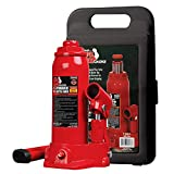 Torin T90413 Big Red Hydraulic Bottle Jack with Carrying Case, 4 Ton (8,000 lb) Capacity