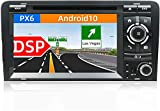 Auto Sat Nav Car Stereo 7 Pulgadas IPS Pantalla táctil Android 10.0 Compatible para Audi A3 2003-2011 SWC Online/Offline Map GPS Head Unit Player Multimedia Player,4 Core WiFi 1+16GB