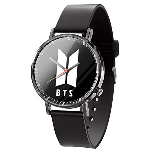Hosston Kpop Bantan Boys Women Men Casual Watches Creative Fashion Wristwatch Unisex Student Clock Best Gift for Army(Style 10)