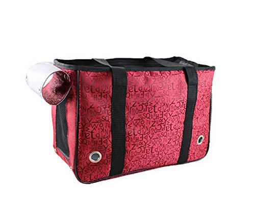 [Lettres rouges] Pet Fashion transporteurs sac fourre-tout pour chiens et chats