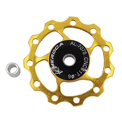 roldanas MTB roldanas Cambio MTB Desviadores Rueda Jockey Cadena de Bicicleta de Cambio Trasero Rueda de Bicicleta de 11T Rueda de Bicicleta de 11T Yellow,OneSize