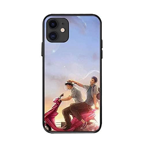 JINGJINGJIAYOU Cajas de teléfono de Baloncesto de Japón Funda de Silicona Suave para iPhone 11 12 Pro XS MAX 8 7 6 6S Plus X XR-Caja del teléfono Slam Dunk_iphone12 Mini