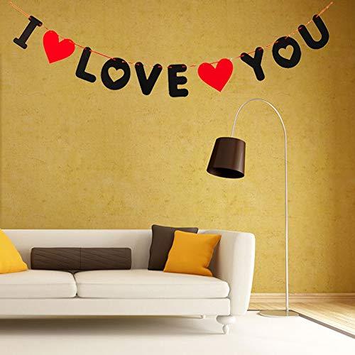 GVC Romantische ich Liebe Dich Banner Herz Brief Non Woven DIY Bunting hängen Flagge Hochzeit Dekor Party Supplies Valentine Home Decor